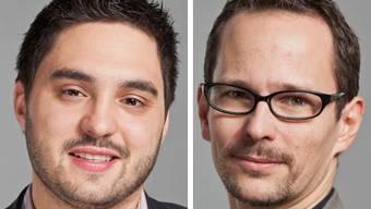 Nationalräte und Studenten: Cédric Wermuth und Balthasar Glättli.