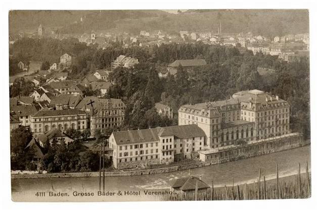 Blick aufs das einstige Grand Hotel (rechts) zu Beginn des 19. Jahrhunderts.