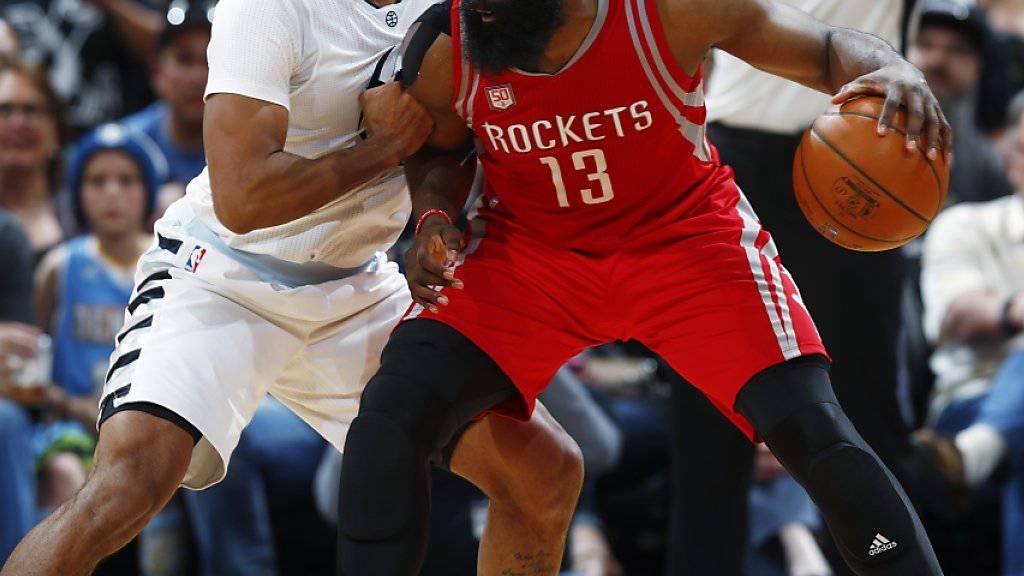 Superstar mit Bart: James Harden ist für die Houston Rockets so etwas wie eine Lebensversicherung