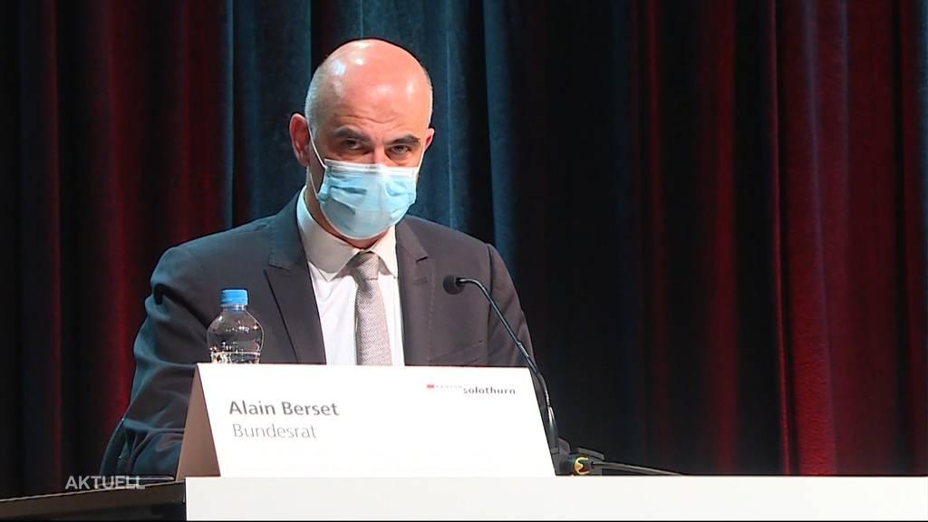 Bundesrat Alain Berset besucht den Kanton Solothurn