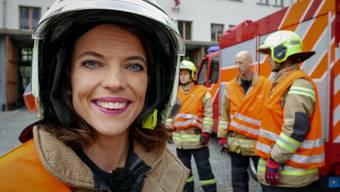 Mona Vetsch begleitete bei den Aufnahmen zu ihrem Reality-TV-Format die Berufsfeuerwehr Basel.