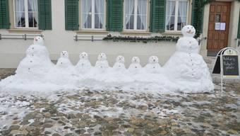 Aargauer Schneefiguren Januar 2021