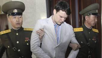 Otto Warmbier während seines Prozess in Korea.