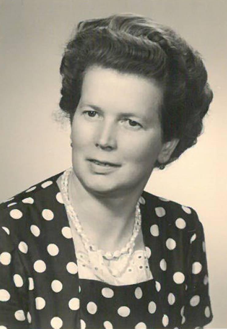Ida Isler, aufgenommen am 25. Juli 1963, mit 42 Jahren.