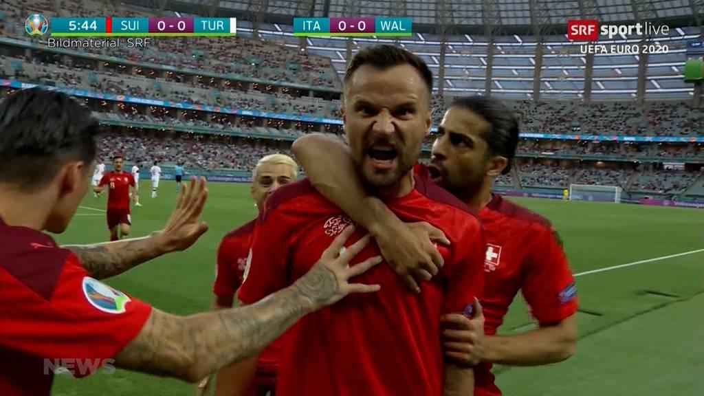 Schweiz schlägt Türkei 3:1 und muss trotzdem zittern