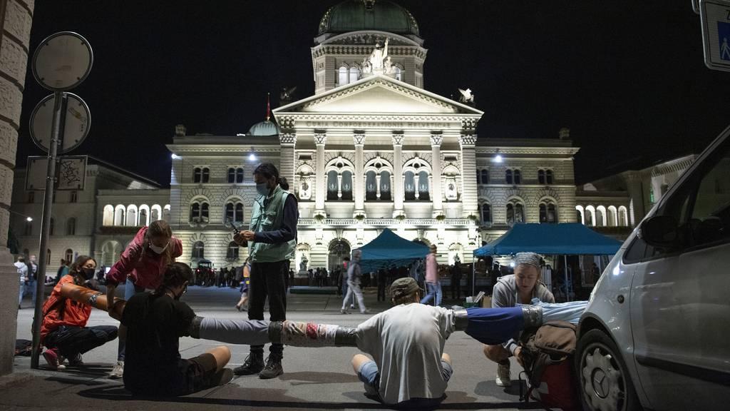 Klima-Protest kehrt zurück nach Bern