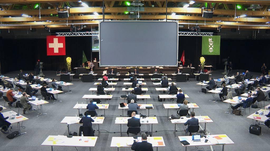 Wegen der Corona-Krise tagt der St.Galler Kantonsrat aktuell in der Olma-Halle.