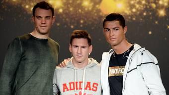 Sehen nicht nur gut aus, sondern sehen auch gut: Profifussballer wie Manuel Neuer, Lionel Messi oder Cristiano Ronaldo haben die besseren Augen.