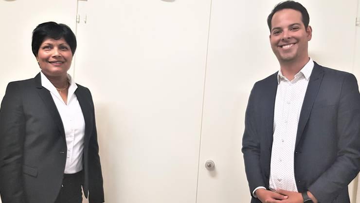 Susan von Sury und Luca Strebel, die beiden Kandidaten für die Kantonsratswahlen