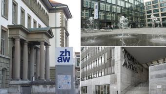 Die drei Zürcher Fachhochschulen ZHAW (links), PHZH (rechts oben) und ZHdK werden sich neu eigenständig vom Bund akkreditieren lassen.