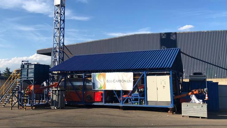 Mit einer mobilen Recyclinganlage hat die Eco-Carbon AG im Sommer einen Test durchgeführt und Erkenntnisse gesammelt. Bild: zvg