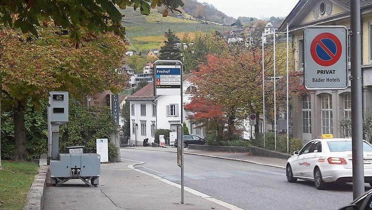 Die semistationäre Geschwindigkeitsmessanlage, hier bei der Bäderstrasse, sorgt für einen Bussenrekord.