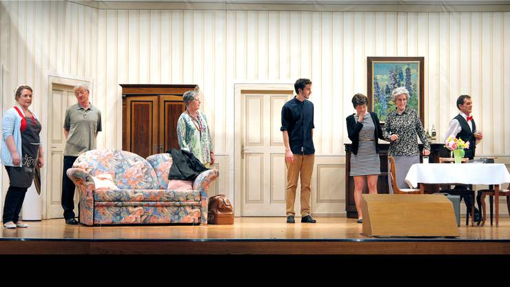 Eine Szene aus der turbulenten Komödie, die heute Mittwoch Premiere feiert.Daniel Lüscher