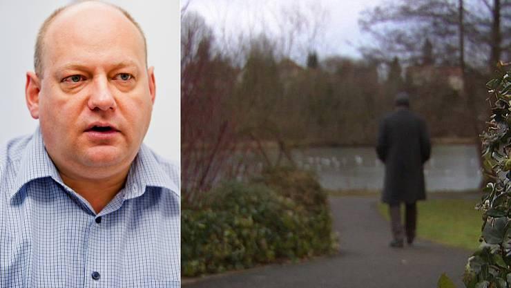Beim Zank um die Kassensturz-Geschichte über Hans M. (rechts) geht es auch um die Aussagen geht des Spreitenbacher Gemeindepräsidenten Valentin Schmid.