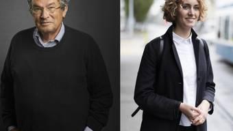 """Standen der """"Zeit"""" gemeinsam Red und Antwort: Autor Charles Lewinsky und Aktivistin Flavia Kleiner. (Archivbilder)"""