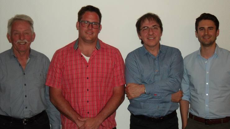 Erwin Stöckli, David Meier, Präsident Roman Roth, Daniel Krucker (v.l.n.r.)