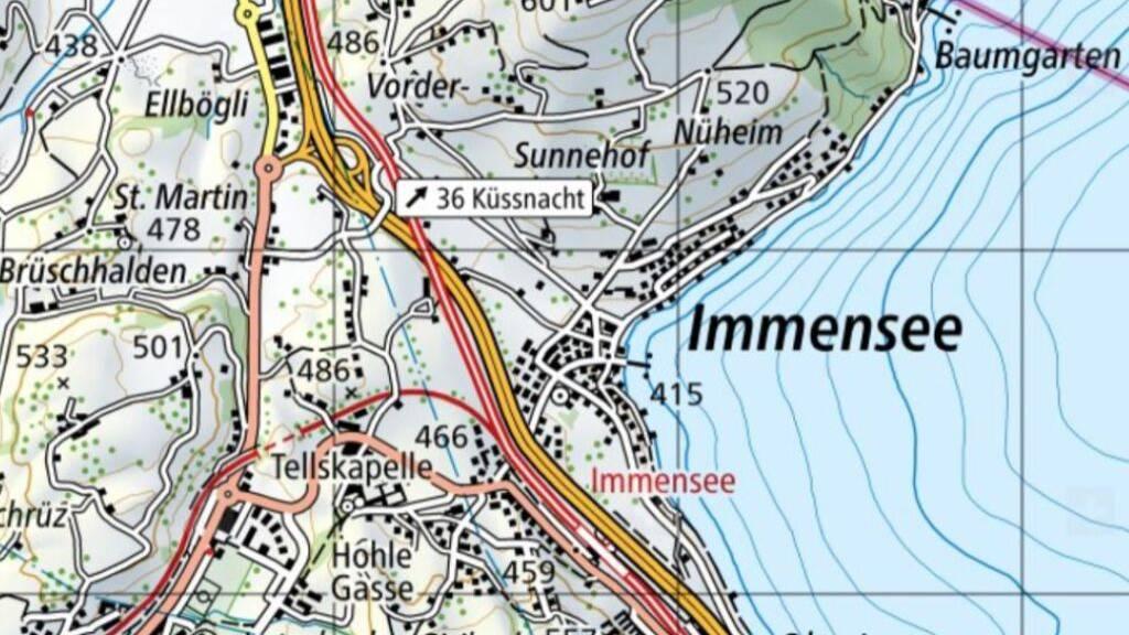 Umbau des A4-Anschlusses in Küssnacht wird konkret