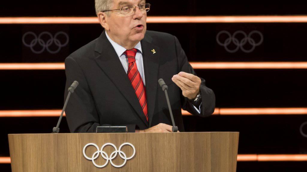 Bei der Goldfeier am Freitag in Schwellbrunn glänzen Präsident Thomas Bach und seine Kollegen vom IOC durch Abwesenheit
