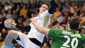 Dem Weltklasse-Handballer Andy Schmid, hier beim Wurf, kann nicht immer alles gelingen