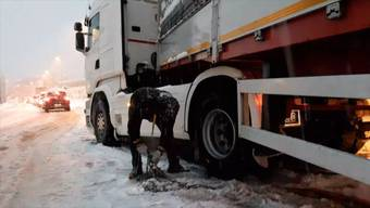 Bis Samstagnachmittag hat es in der Schweiz verbreitet Neuschnee gegeben, am meisten im Misox und im Engadin mit bis zu über 70 Zentimeter. Im Tessin, Wallis und Graubünden waren die Auswirkungen auf den Verkehr gross.