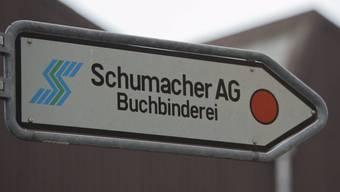 Blick auf eine Fabrikhalle der Buchbinderei Schumacher (Archiv)