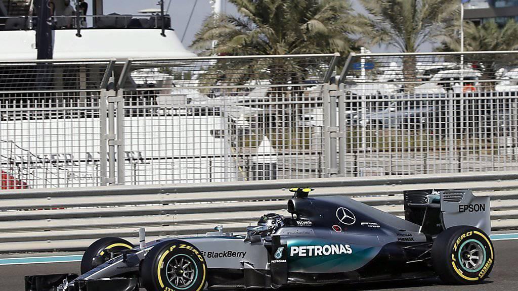 Nico Rosberg fährt am ersten Trainingstag in Abu Dhabi die Bestzeit