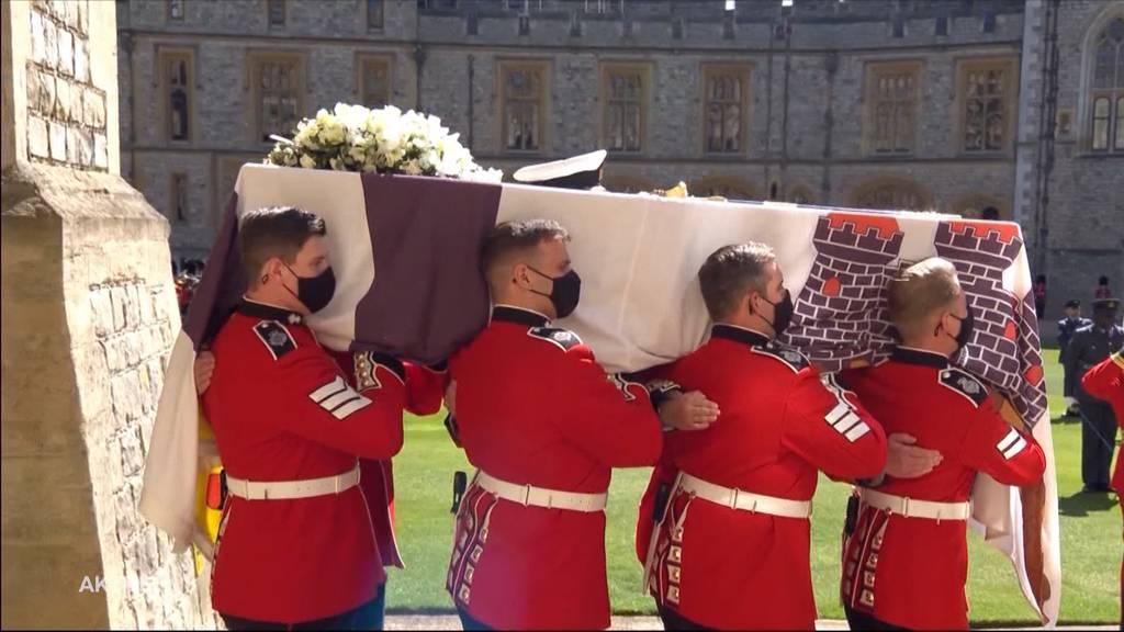 Royale Beerdigung: Die Königsfamilie nimmt Abschied von Prinz Philip