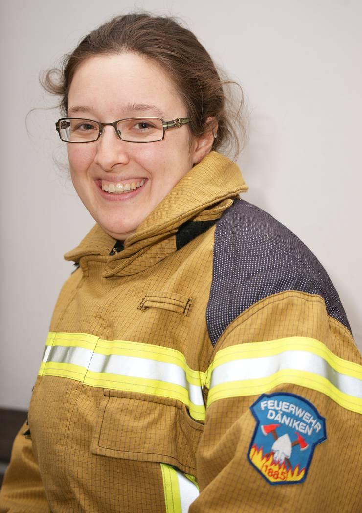 Franziska Hochstrasser, Präsidentin des Bezirksfeuerwehrverbands Olten-Gösgen und Kommandantin bei der Feuerwehr Däniken.