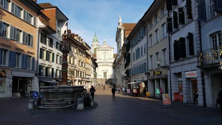Die Stadt Solothurn im Lockdown-Modus. Märet findet keiner mehr statt.