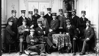 Auch diese Aufnahme der Badener Hotelportiers von 1902 ist Teil des Rückblicks.