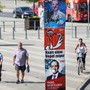 Wahlplakate in Potsdam im deutschen Bundesland Brandenburg, wo der AfD deutliche Gewinne vorhergesagt werden. (Archivbild)