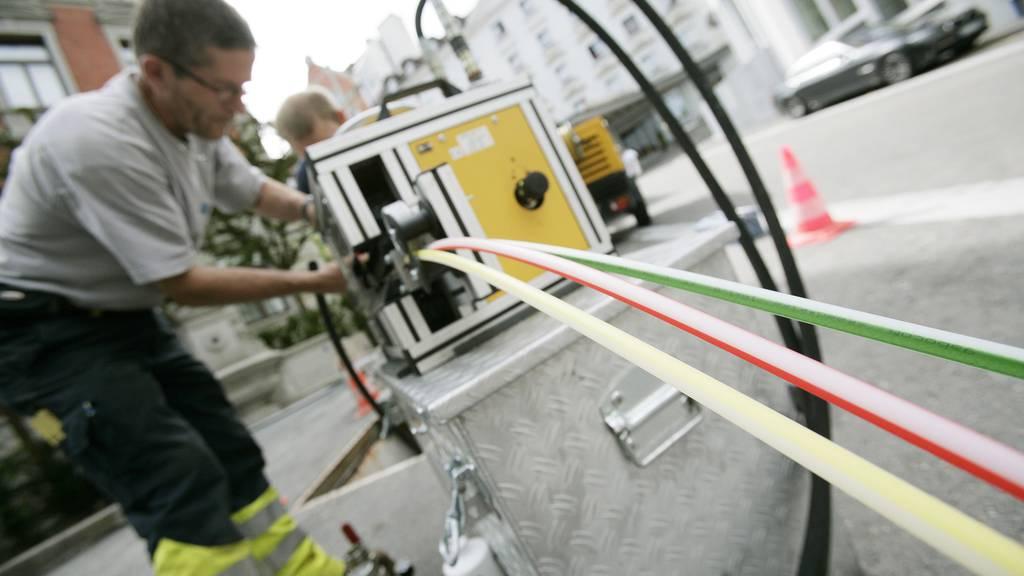 Genau wie in St.Gallen sollen auch in Uzwil bald Glasfaserkabel verlegt werden.