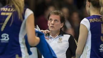 Nach der 2:3-Niederlage bei Lokomotive Baku mit Redebedarf: Volero Zürichs Trainer Avital Selinger (Archivbild)