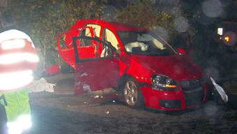 Bild aus der Unfallnacht 2008 in Schönenwerd (Kapo Solothurn)