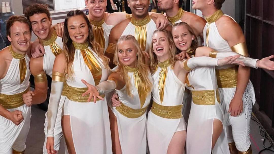 Die Tanzgruppe aus Götzis ist stolz auf Platz zwei.