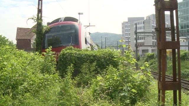 Baden: S-Bahn prallt in Prellbock