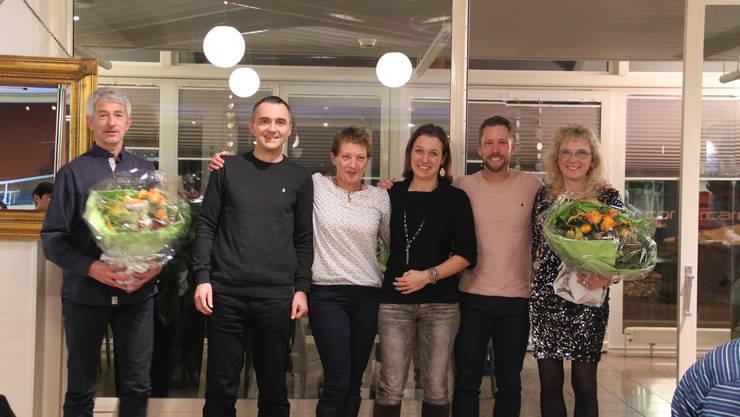 von links: Walter Howald, Frank Moritz, Bernadette Flück, Nicole Denzler, Daniel Lorenz, Vreny Gerber
