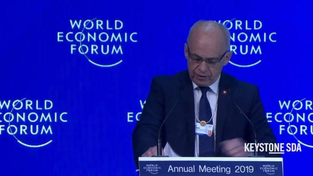 WEF: Ueli Maurer fordert Dialog zwischen Eliten und Bevölkerung