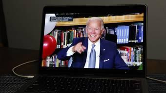 Der Parteitag der Demokraten hat weitgehend virtuell stattgefunden: Joe Biden.