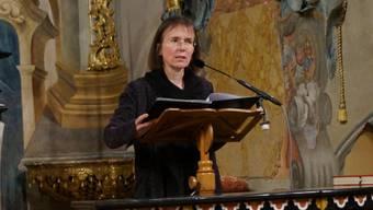 Ulrike Wolitz liest Silja Walter in der Klosterkirche: «Ich habe den Himmel gesehen».