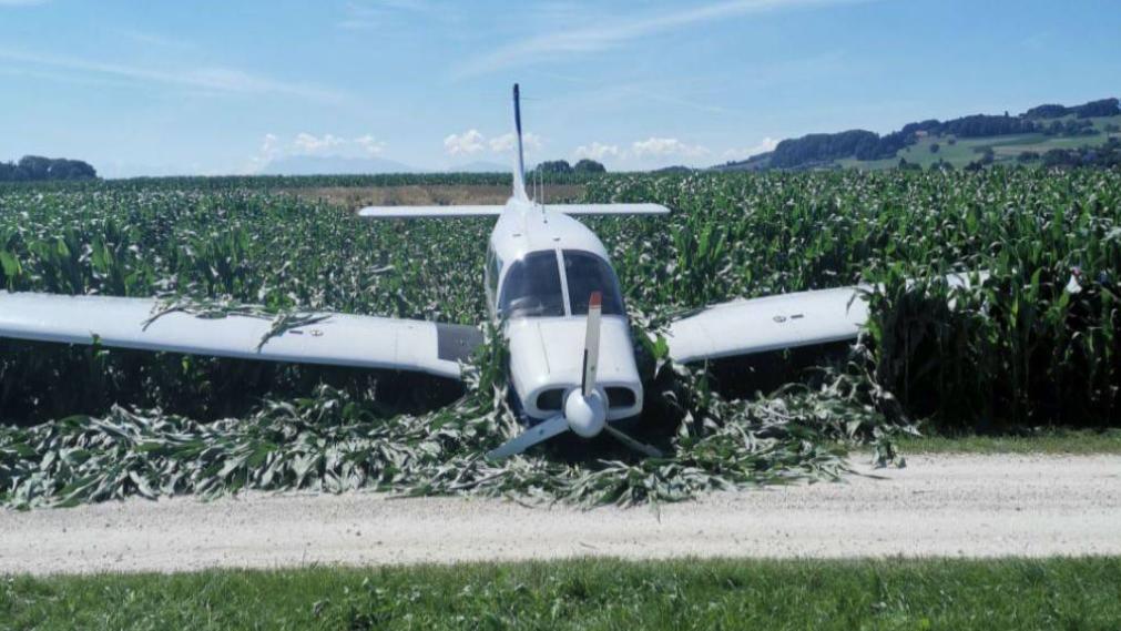Flugzeug auf Alpenrundflug muss in Maisfeld notlanden