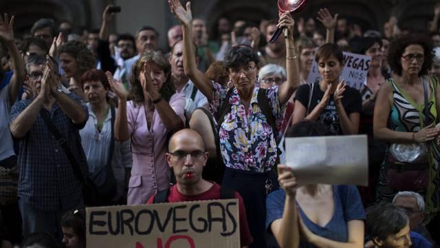In Barcelona war im Juni heftig gegen Eurovegas protestiert worden (Archiv)