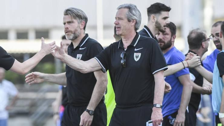 FCA-Assistenztrainer Stephan Keller und Trainer Ton Verkerk