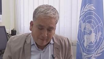 Zusammenbruch vor laufender Kamera: UNRWA-Sprecher Christopher Gunnes