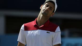 Novak Djokovic musste sich im Final im Queen's Club von London Marin Cilic geschlagen geben