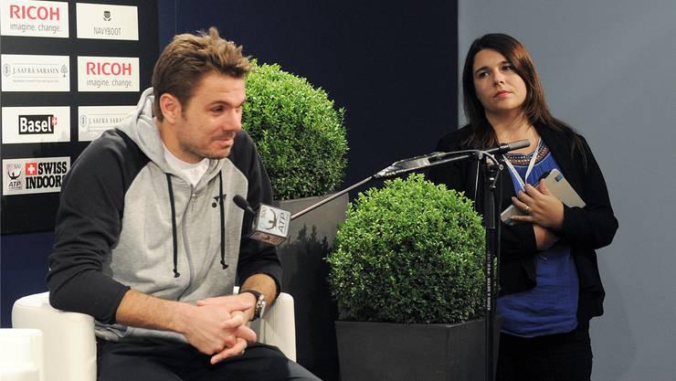 Fabienne Benoit (r.) übernimmt für Stan Wawrinka auch bei den Swiss Indoors die Medienarbeit.kurt Schorrer