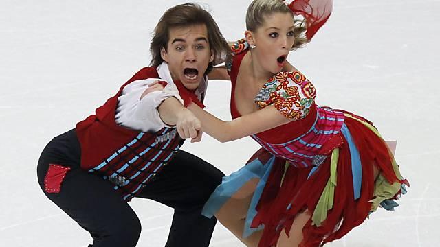Ramona Elsener und Florian Roost sind am Freitag in der Kür dabei