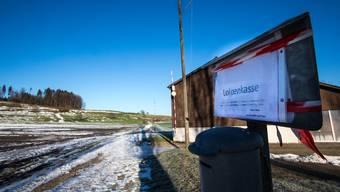 Im Leutwiler Moos ist der Schnee geschmolzen