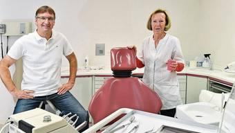 Der Zahnarzt Daniel Haefeli und seine langjährige Sekretärin Madeleine Schmid behandelten viele Schulkinder.