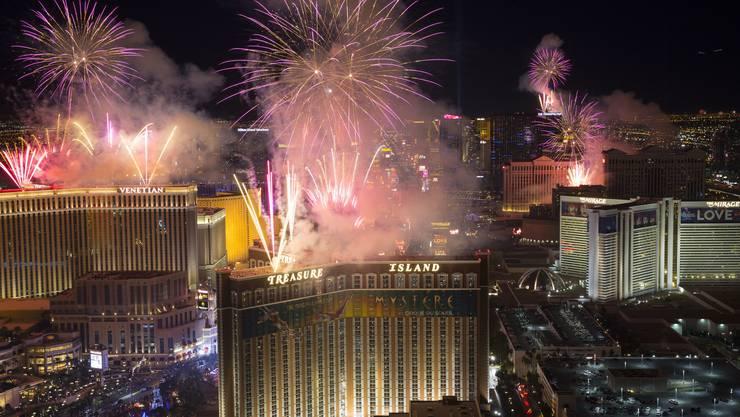 Feuerwerk in Las Vegas.
